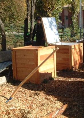 Composteurs du Jardin Solidaire Ecologique des Cerises