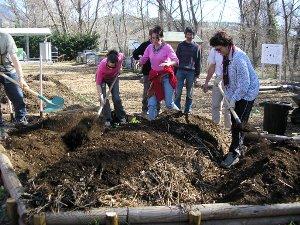 Travaux pratiques de la formation au Jardinage Biologique